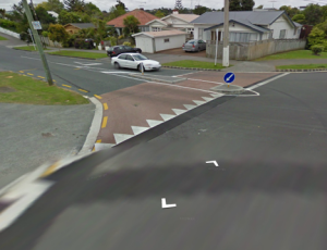 Raised table at t junction - Grey Lynn (almost there)